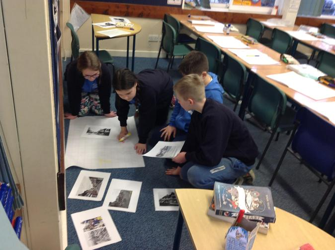 For our Change the Story project, we looked at past and present images of Shrewsbury.