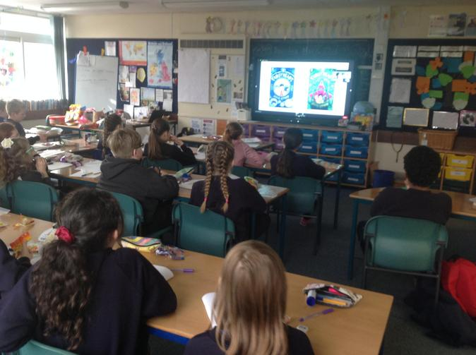 This term, we got to watch two authors live from Puffin books.