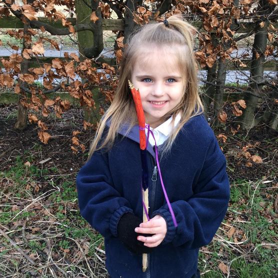 Mine's a rainbow wand!