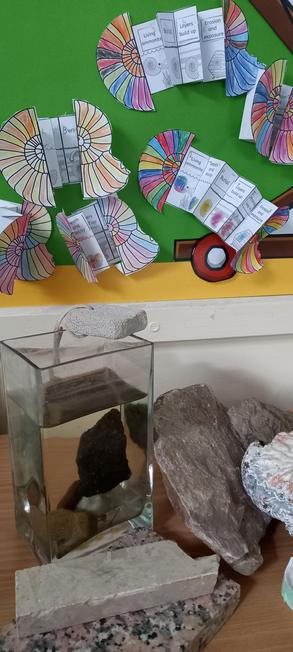 Y3 have been learning about rocks, fossils and soil in science.