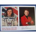 A signed postcard from Helen Sharman