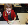 Playing with slime in Science
