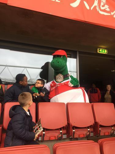 Hanging out with Gunnersaurus.