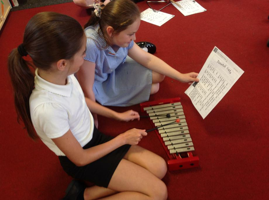 Year 6 reading music from graphic scores
