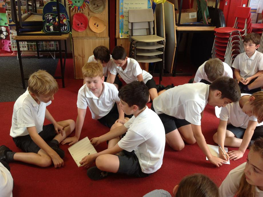 Year 5 composing in small groups