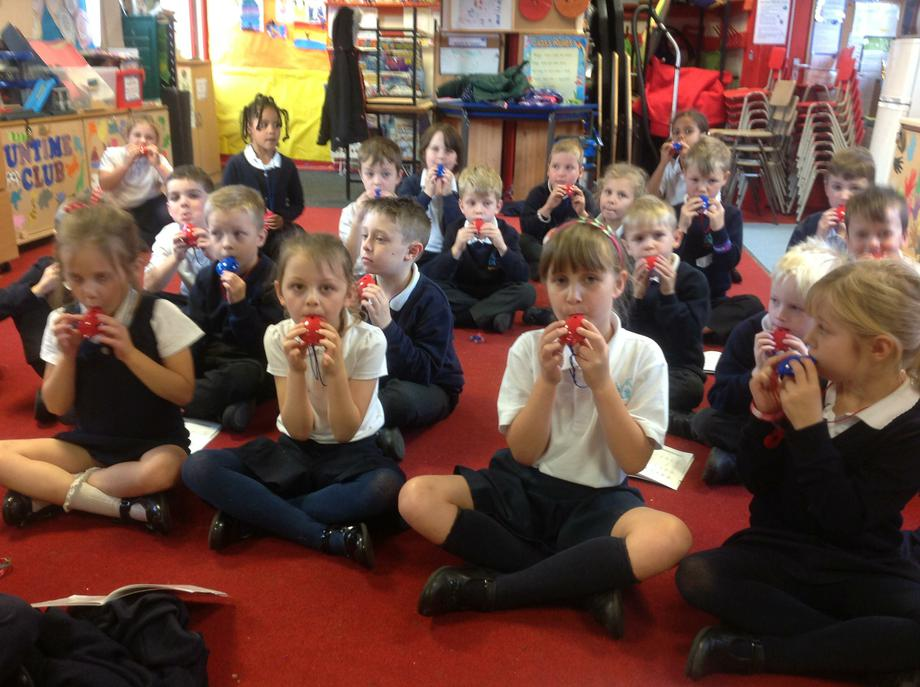 Year 2 ocarina playing