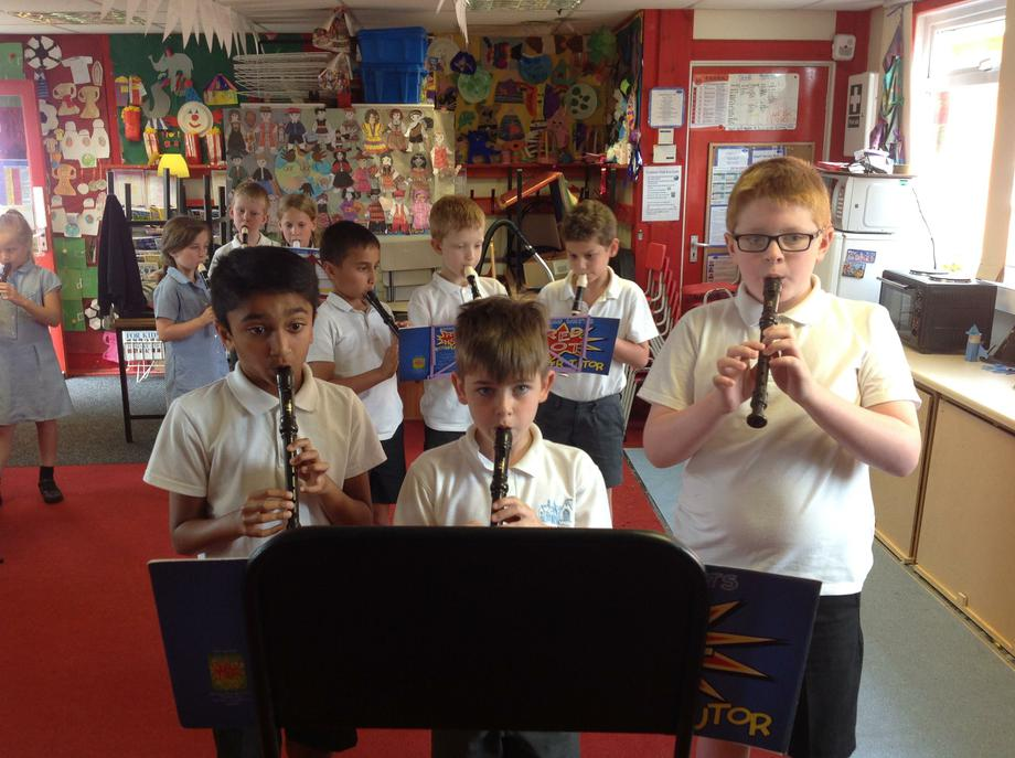 Key Stage 2 recorder playing