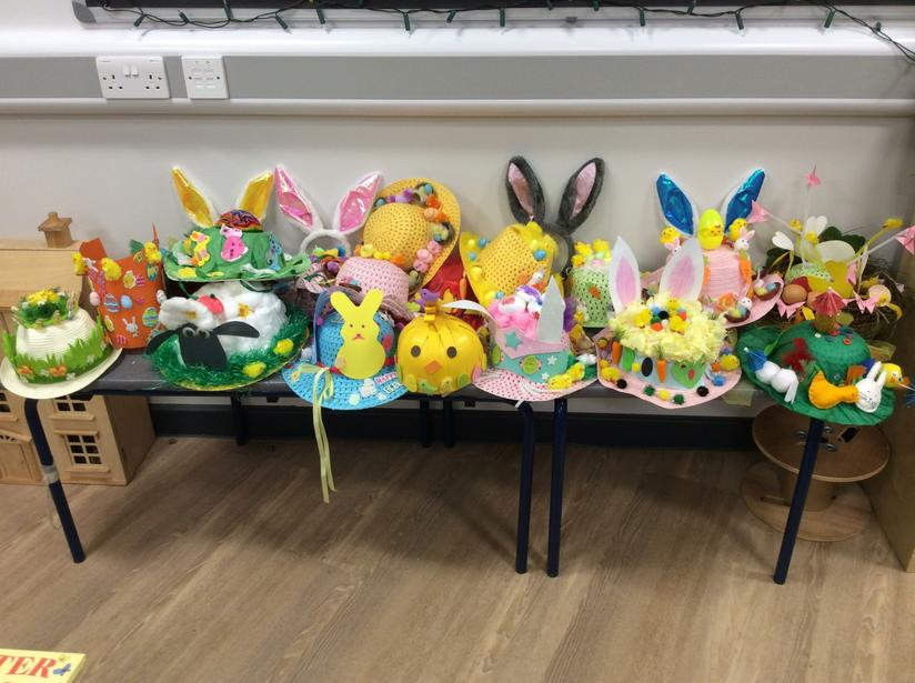 March - Nursery made Easter bonnets