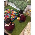 The children love creating in our construction areas.