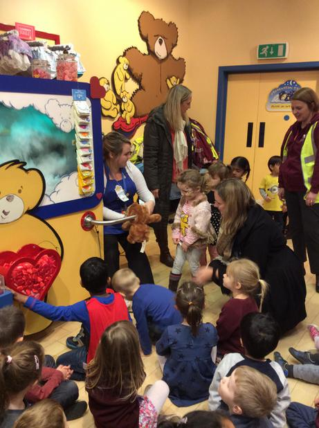 December - Nursery visited the Bear Factory