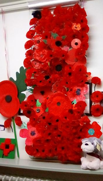 November - We made poppies for Remembrance day