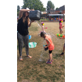 Cooling down in the Summer with a water fight.