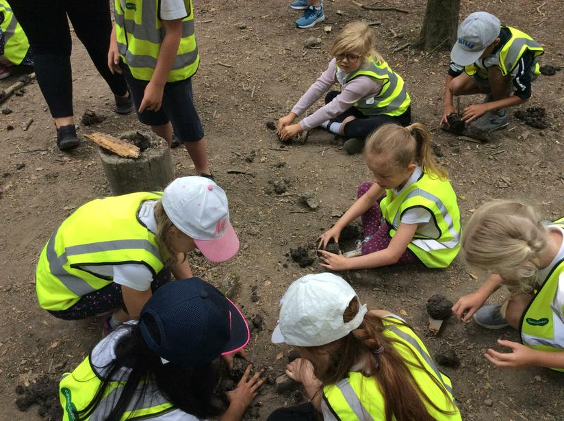 July - Making mud monsters at Conkers