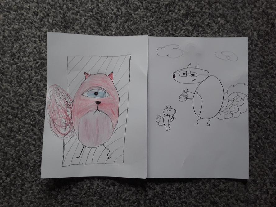 'Cyclops and Birthday Squirrel' - Amy - 6H