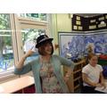 Mrs Copeland having fun!
