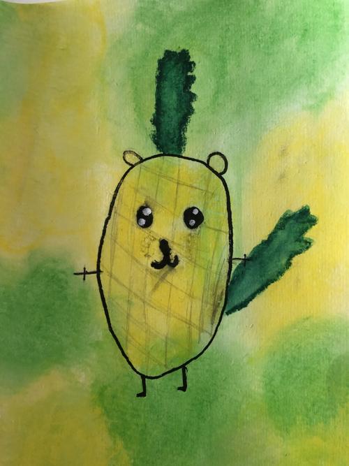 'Pineapple Squirrel' - Josie - 4L
