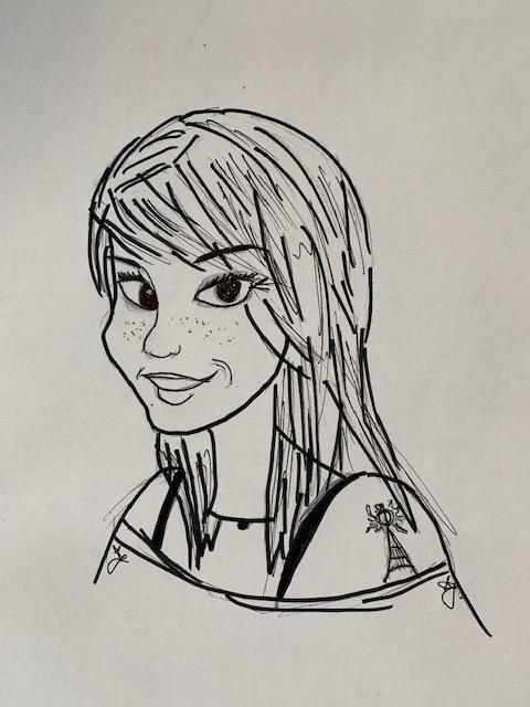 'Miss James' - drawn by Miss James