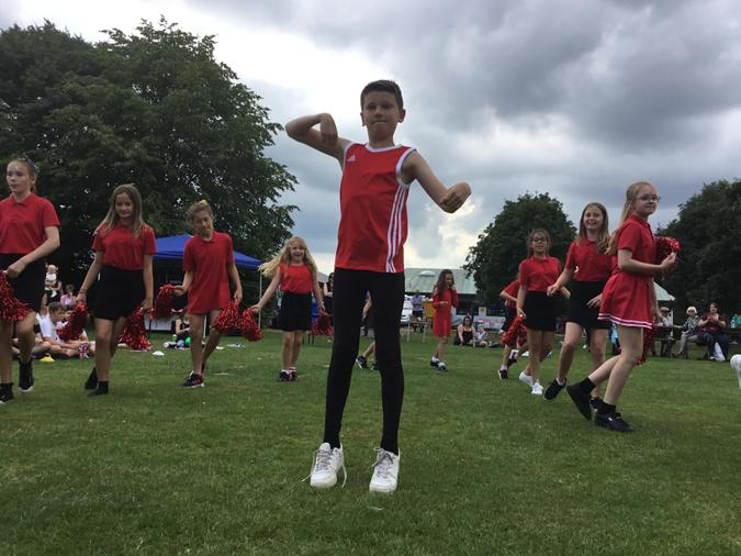 Children performing at the Summer Fun Afternoon