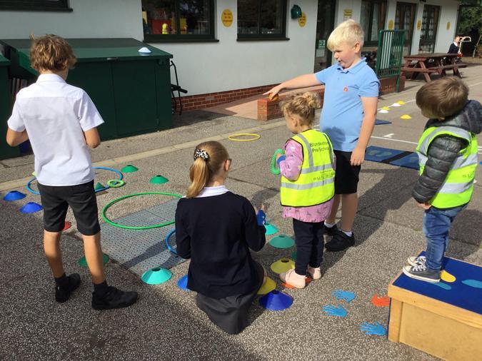 Children from Blundeston Pre-School visiting us