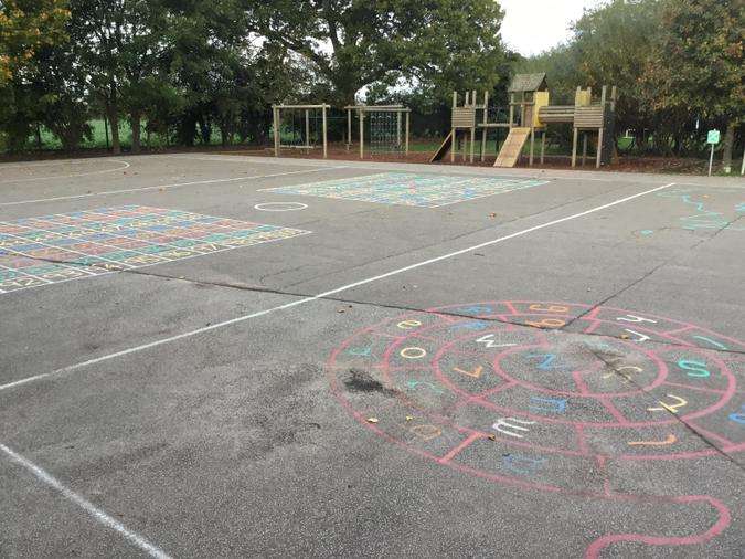 Our playground markings were funded by PE Premium