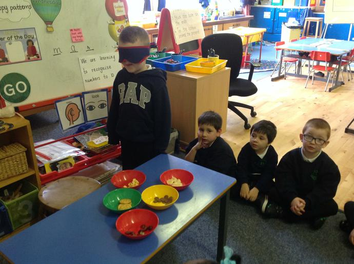 P1 enjoyed tasting different types of food.