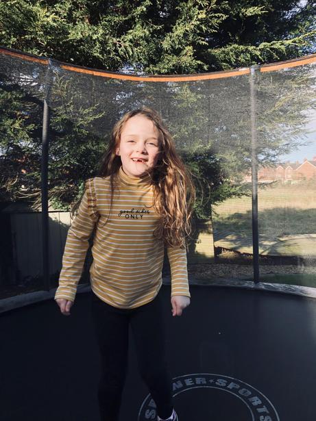 Katie having fun outdoors