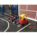 Some of the vehicles in Nursery