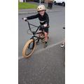 Cool bike and helmet