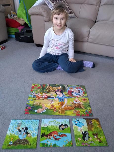 Veronika has been very busy with jigsaw building