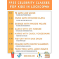 Free celebrity lessons each day