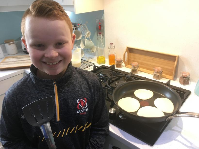 Baking pancakes!