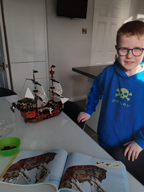 A fantastic Lego pirate ship.