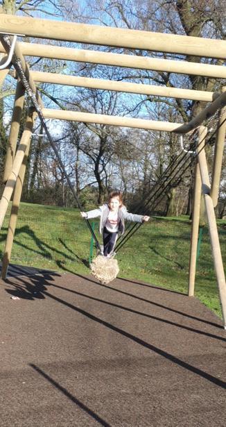 Phoebe having fun at a park