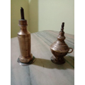 Oil lamps from India.
