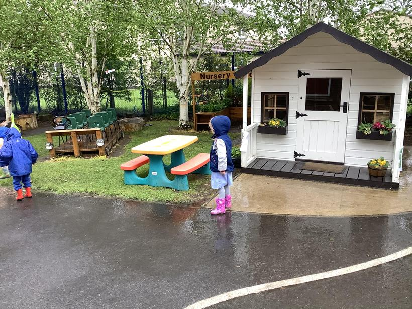 Some of us enjoyed splashing in the puddles!