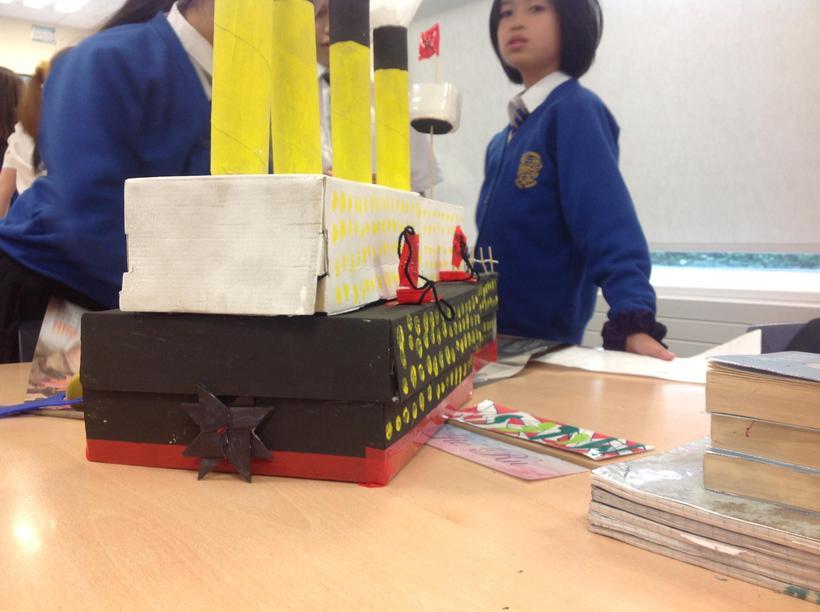 We had great fun building the Titanic!
