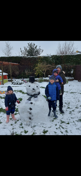 Fabulous snowman, Eli!