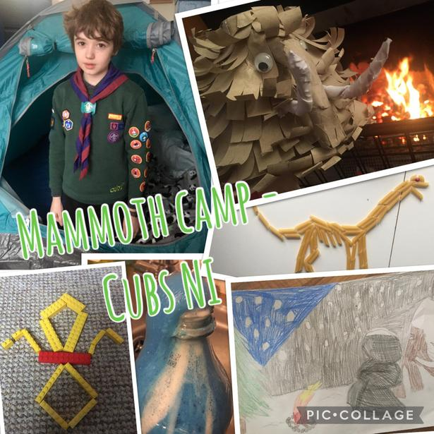 Jonno enjoy Mammoth Camp with Cubs NI