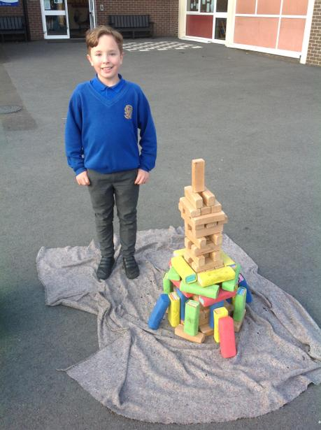 I used symmetry to build a tower!