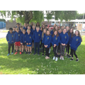We went outside to show off our Leavers Hoodies!