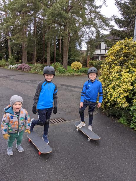 """Alex out """"Scootering"""" with his brothers"""