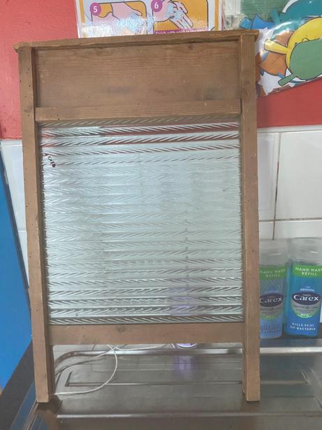 A washboard.