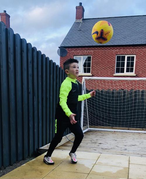 Practising football skills
