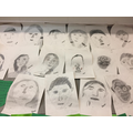 pencil self portraits