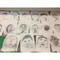 pencil self portraits