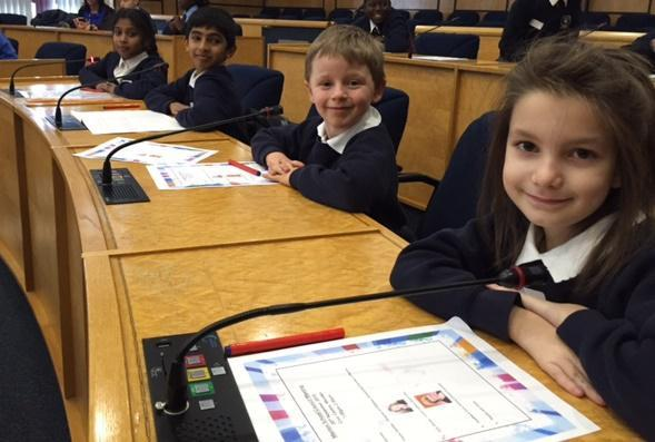 School Councillors at the Civic Center