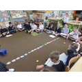 Dino Subtraction - Counting back using a number line