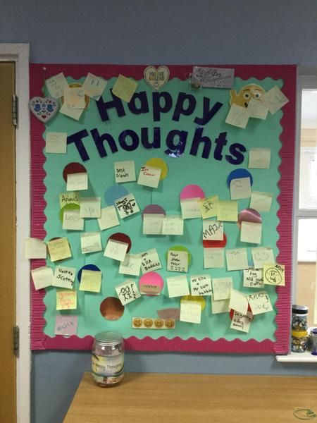 Our happy thoughts wall