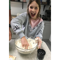 This week, Emily has been baking bread and cakes.