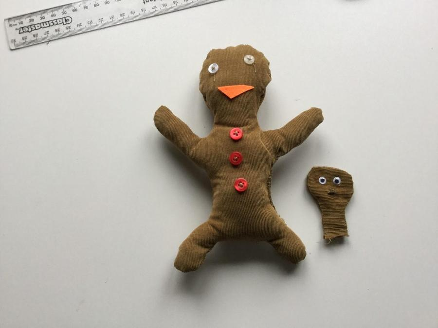 One of our Year 1's made this amazing gingerbread man finger puppet for our DT topic.
